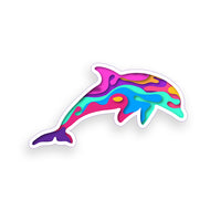 Dripping Dolphin Sticker