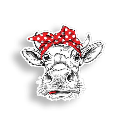 Cow with Red Bandanna Sticker