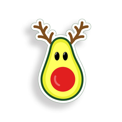 Reindeer Avocado Sticker
