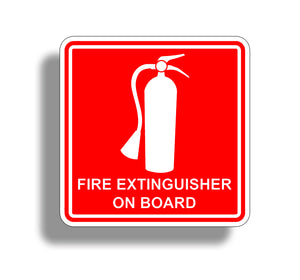 Fire Extinguisher On Board Sticker Decal