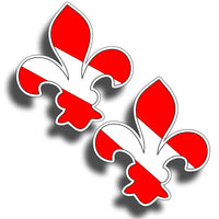 Fleur-de-lis Scuba Diving Sticker