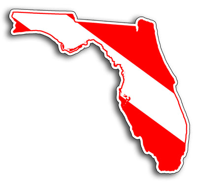 Florida Diver Down Sticker Decal
