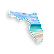 Florida Beach Ocean Sticker