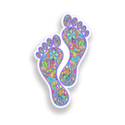 Flower Footprint Sticker