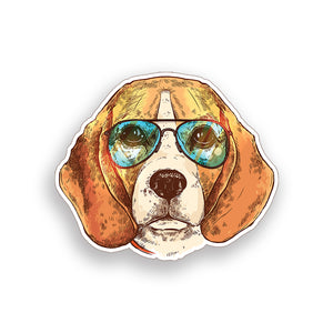 Beagle Dog face Sticker