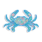 Green Wave Crab Sticker