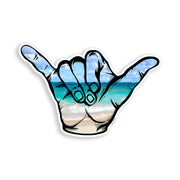 "3"" mini Beach Ocean Scene Hang Loose Sticker"