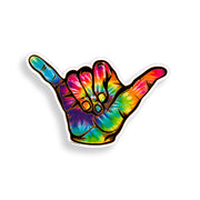 Tie Dye Hang Loose Sticker