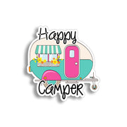 Happy Camper Retro Sticker