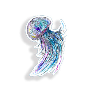 Jellyfish Watercolor Sticker