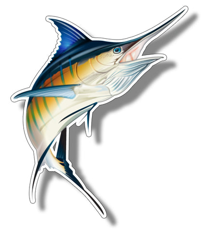 Fish decals sticky customs for Saltwater fishing decals