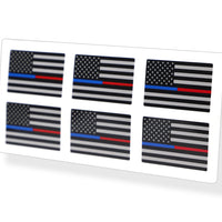 Mini Blue / Red Line USA Flag Sticker