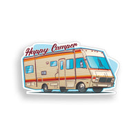 Old RV Happy Camper Sticker