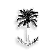 Palm Tree Anchor Sticker