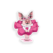 Pig Wearing Dress Sticker