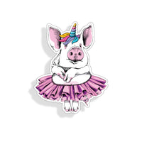Pig Wearing TuTu Sticker
