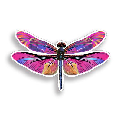 Pink Dragonfly Sticker