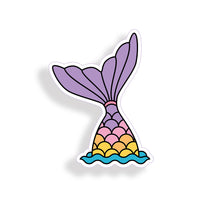 Purple Mermaid Scale Tail in water Sticker