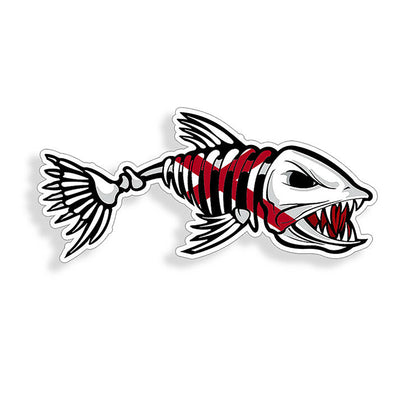 Alabama Flag USA Bone Fish Sticker