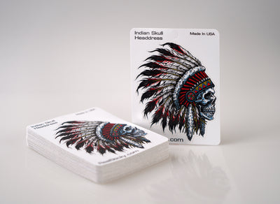 Indian Skull Headdress Sticker