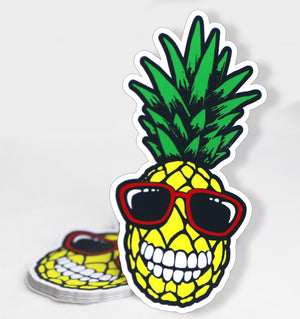 Smiling Pineapple Sticker