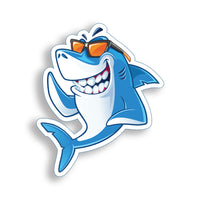 Smiling Shark Dude Sticker