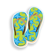 Starfish Flip Flop Sticker