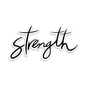Strength Cross Sticker