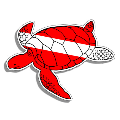 Turtle Diver Down Sticker Decal Dive Diving