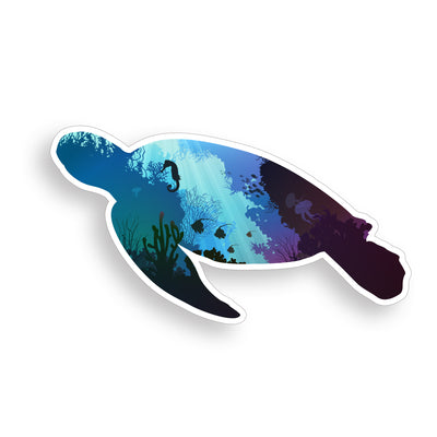 Underwater Sea Turtle Sticker
