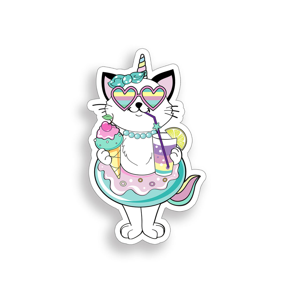 Unicorn Cat Float Sticker
