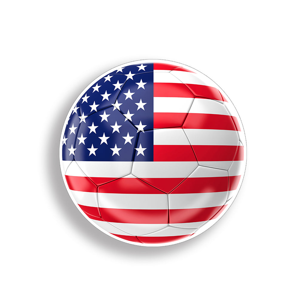 USA American Flag Soccer Ball Sticker