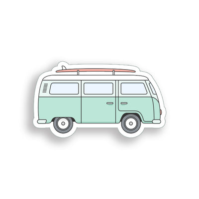 Surfboard Van Sticker