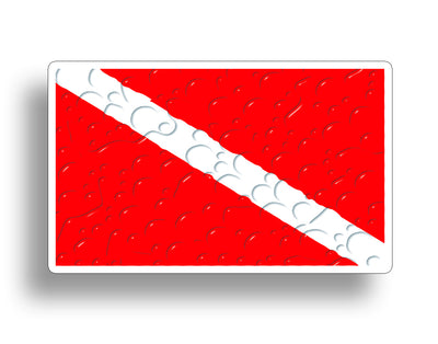 Scuba Dive Naked Sticker Flag Diver Down Decal Car truck Tank Graphic Cup Laptop