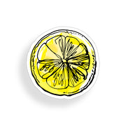 Lemon Slice Sticker - 4 inch watercolor