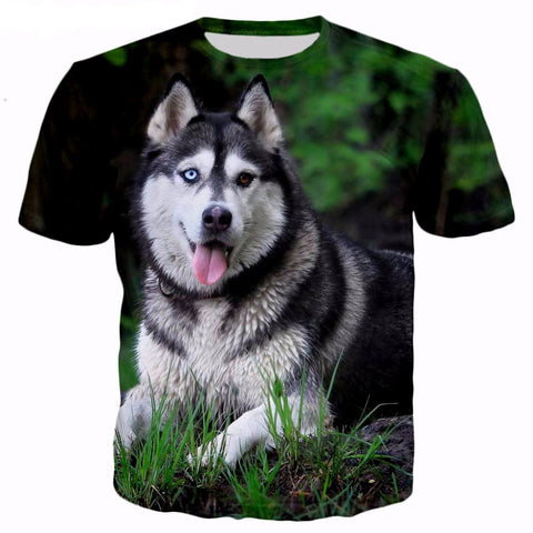 Blue & Brown Eyed Husky Tee