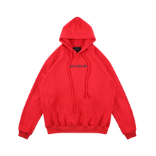MAYHEM RED HEAVY WASHED CIRCLE LOGO HOODIE