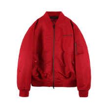 MAYHEM RED DAMAGED BOMBER JACKET