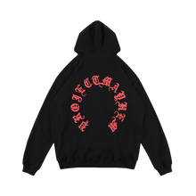 MAYHEM BLACK HEAVY WASHED CIRCLE LOGO HOODIE