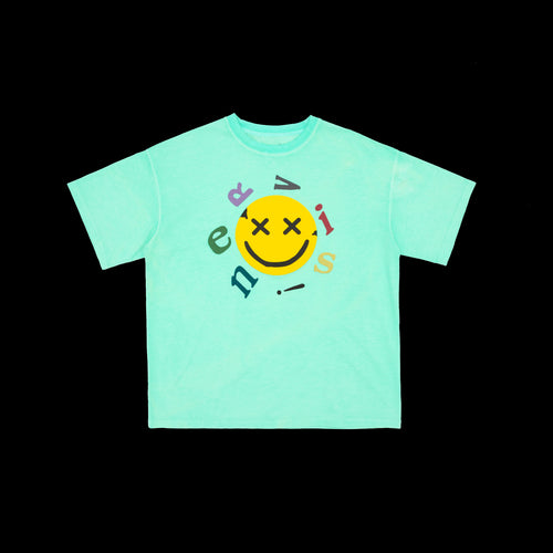 NERVIS GREEN SMILE PUFF-PRINT TEE