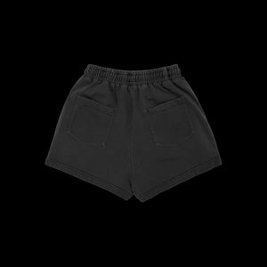NERVIS DARK GREY PUFF- PRINT SHORT/ WOMEN