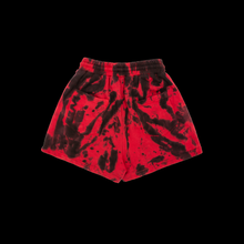 NERVIS RED BLACK TIE-DYE PUFF-PRINT SHORT/WOMEN