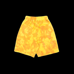 NERVIS ORANGE YELLOW TIE-DYE PUFF-PRINT SHORT/MEN