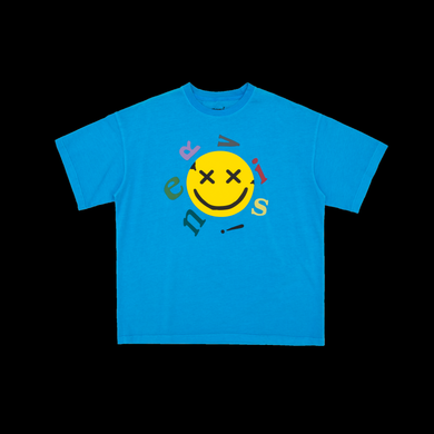 NERVIS BLUE SMILE PUFF-PRINT TEE