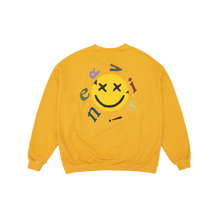 NERVIS YELLOW SMILE PUFF-PRINT SWEATER
