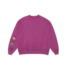 NERVIS PURPLE SMILE PUFF-PRINT SWEATER