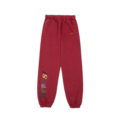 NERVIS RED PUFF-PRINT LOUNGE PANTS