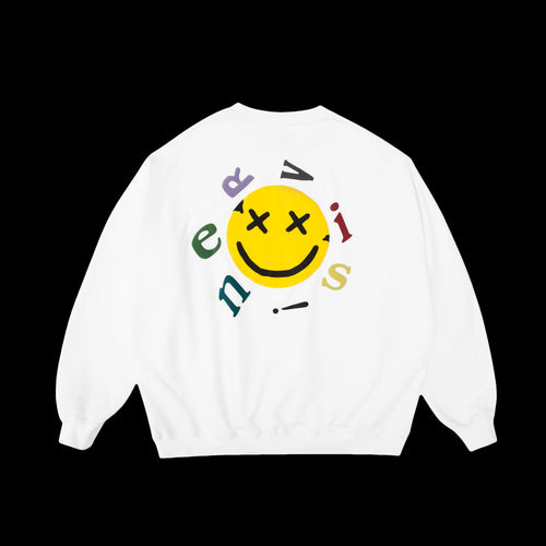 NERVIS WHITE SMILE PUFF-PRINT SWEATER