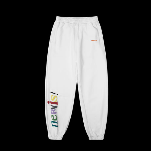 NERVIS WHITE PUFFPRINT LOUNGE PANTS