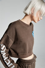 PRE ORDER NERVIS BORWN PUFF-PRINT CROPPED SWEATER